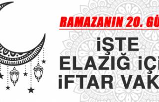 Ramazanın Yirminci Gününde Elazığ'da İftar...