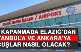 Tam Kapanmada Elazığ'dan İstanbul ve Ankara'ya...