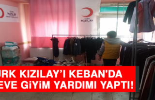 Türk Kızılay'ı, Keban'da 115 Eve Giyim...