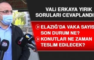 Vali Erkaya Yırık, Bayram Namazı Sonrası Soruları...