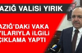 Vali Yırık Elazığ'daki Vaka Sayılarıyla İlgili...