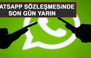 Whatsapp Sözleşmesinde Son Gün Yarın
