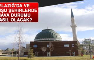 21 Haziran'da Elazığ'da Hava Durumu Nasıl Olacak?