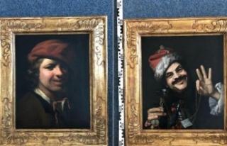 Çöpten 17'nci yüzyıla ait iki değerli tablo...