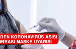 DSÖ'den Koronavirüs Aşısı Sonrası Maske...