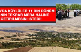 Elazığ'da Köylüler 11 Bin Dönüm Alanın...