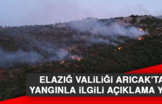 Elazığ Valiliği Arıcak'taki Yangınla İlgili...