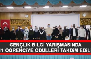 Gençlik Bilgi Yarışmasında, 111 Öğrenciye Ödülleri...
