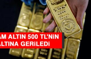 Gram Altın 500 TL'nin Altına Geriledi