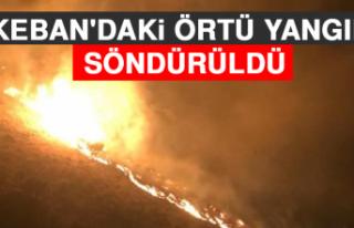Keban'daki Örtü Yangını Söndürüldü