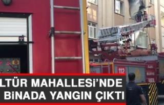 Kültür Mahallesi'nde Bir Binada Yangın Çıktı