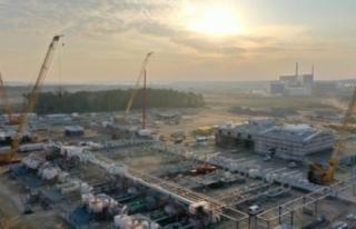 Kuzey Akım 2 projesinin ilk hattında inşaat çalışmaları...