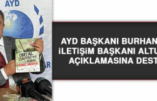 AYD Başkanı Burhan'dan İletişim Başkanı...