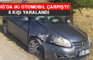 Elazığ'da İki Otomobil Çarpıştı: 6 Yaralı