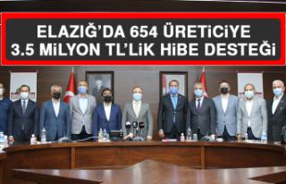 Elazığ'da 654 Üreticiye 3.5 Milyon TL'lik Hibe...