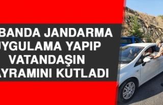 Keban'da Jandarma Uygulama Yapıp Vatandaşın Bayramını...