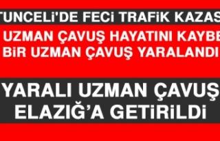 Tunceli'de Feci Trafik Kazası
