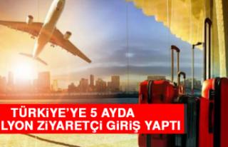 Türkiye'ye 5 Ayda 4,5 Milyon Ziyaretçi Giriş...