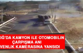 Elazığ'da Kamyon İle Otomobilin Çarpışma...