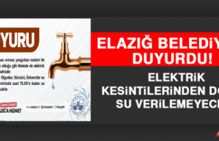 Elazığ'da Elektrik Kesintilerinden Dolayı Su...