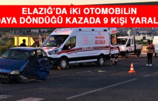 Elazığ'da İki Otomobilin Hurdaya Döndüğü...