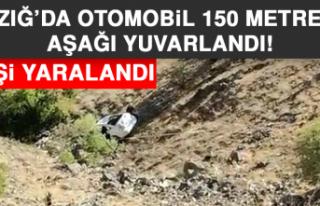 Elazığ'da Otomobil 150 Metreden Aşağı Yuvarlandı:...
