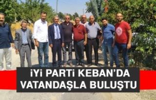 İYİ Parti Keban'da Vatandaşla Buluştu