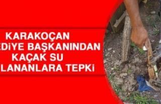 Karakoçan Belediye Başkanından Kaçak Su Kullananlara...