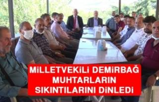 Milletvekili Demirbağ, Muhtarların Sıkıntılarını...