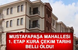 Mustafapaşa Mahallesi'nde İlk Kura Çekilişi...