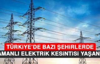 Türkiye'de Bazı Şehirlerde Eş Zamanlı Elektrik...