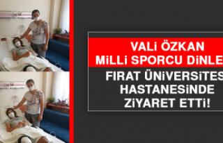 Vali Özkan, Milli Sporcu Dinler'i Ziyaret Etti