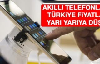 Akıllı Telefonların Türkiye Fiyatları Yarı Yarıya...