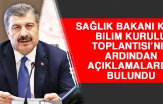 BAKAN KOCA BİLİM KURULU TOPLANTISI'NIN ARDINDAN...