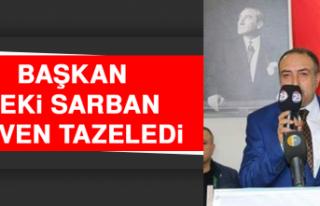 Başkan Zeki Sarban Güven Tazeledi