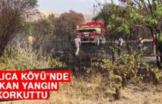 Dallıca Köyü'nde Çıkan Yangın Korkuttu