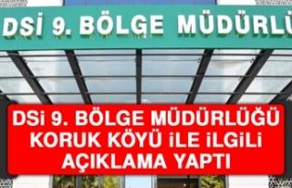 DSİ 9. Bölge Müdürlüğü Koruk Köyü İle İlgili...