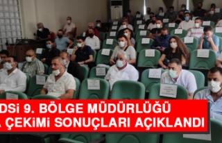DSİ 9. Bölge Müdürlüğü Kura Çekimi Sonuçları...