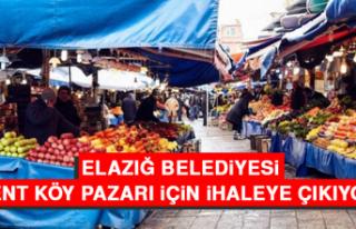 Elazığ Belediyesi Kent Köy Pazarı İçin İhaleye...