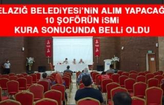 Elazığ Belediyesi'nin Alım Yapacağı 10 Şoförün...
