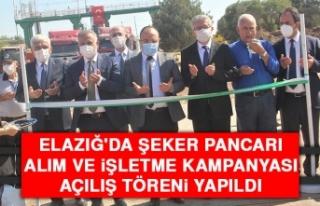 Elazığ'da Şeker Pancarı Alım ve İşletme...