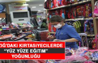 """Elazığ'daki Kırtasiyecilerde """"Yüz Yüze..."""