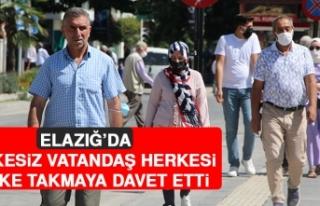 Elazığ'da Maskesiz Vatandaş, Herkesi Maske Takmaya...