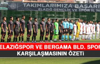 Elazığspor ve Bergama Bld. Spor Karşılaşmasının...