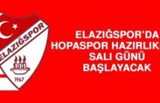 Elazığspor'da Hopaspor Hazırlıkları Salı Günü...