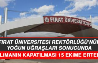 Fırat Üniversitesi Rektörlüğü'nün Yoğun...