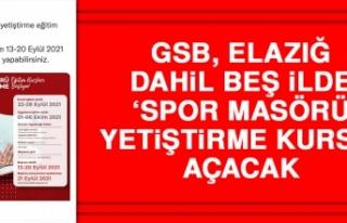 GSB, Elazığ Dahil Beş İlde 'Spor Masörü Yetiştirme...