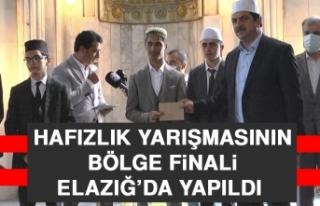 Hafızlık Yarışmasının Bölge Finali Elazığ'da...