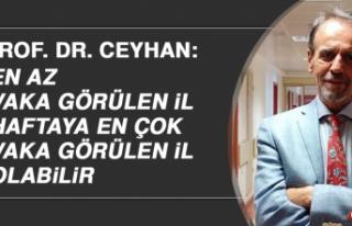 Hemşehrimiz Prof. Dr. Ceyhan: En Az Vaka Görülen...