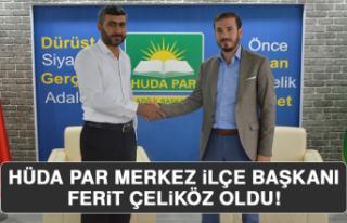 HÜDA PAR Merkez İlçe Başkanı Ferit Çeliköz...